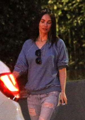 Megan Fox in Ripped Jeans Out in LA