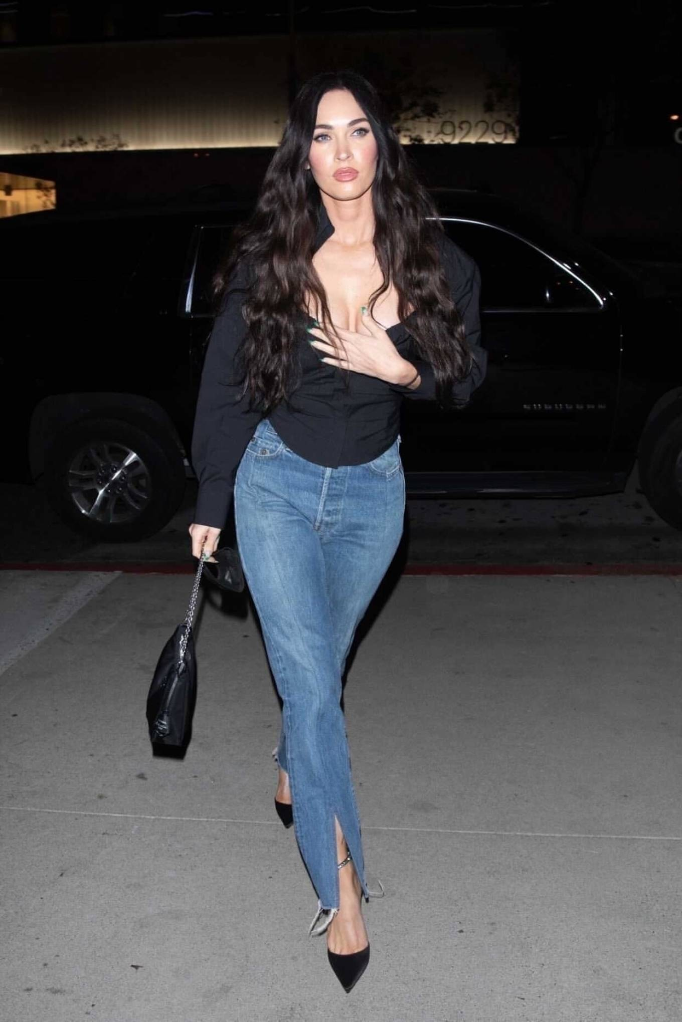 Megan Fox 2021 : Megan Fox – Out alone for dinner in West Hollywood-10