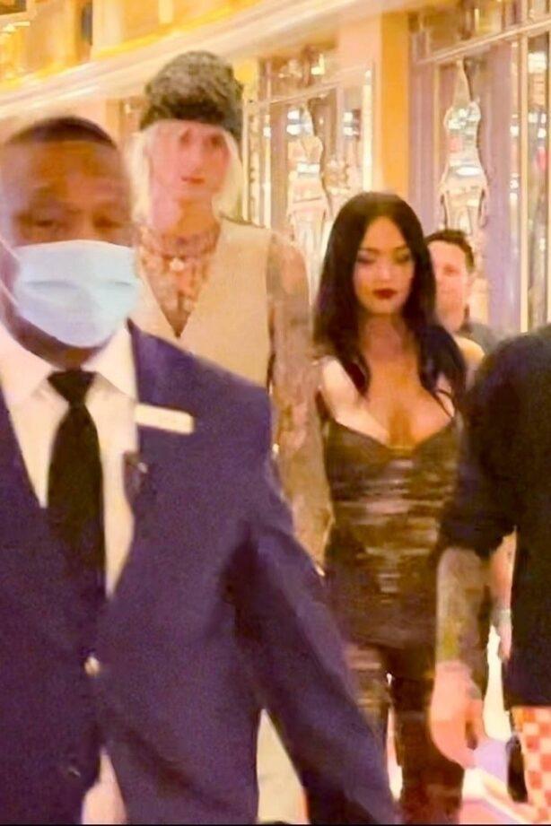 Megan Fox - seen walking through the Wynn Hotel with MGK in Las Vegas