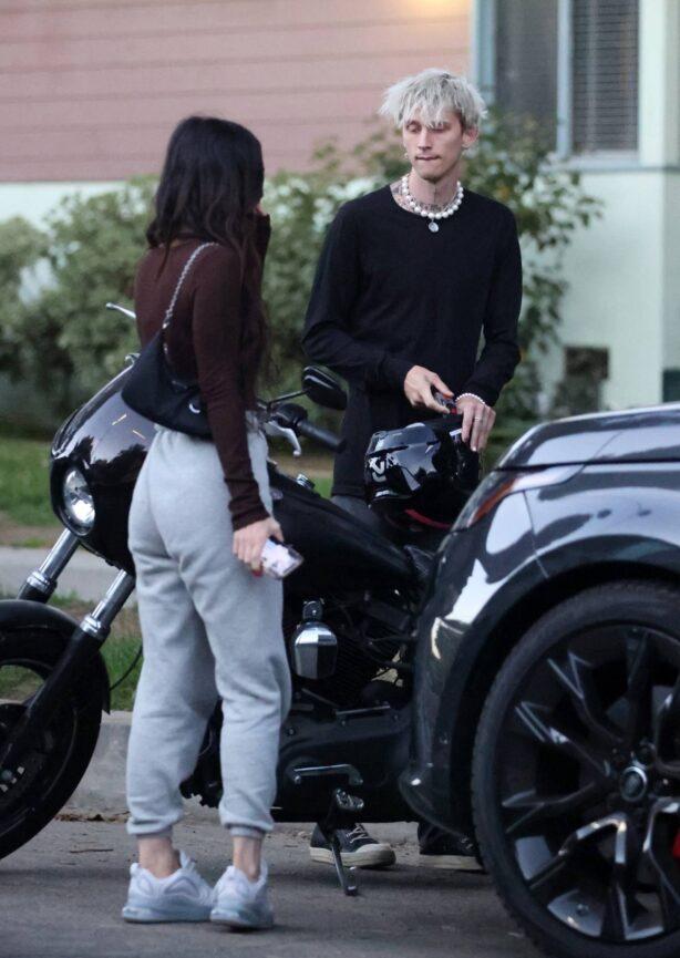 Megan Fox - Seen with Machine Gun Kelly while attending a graduation in Sherman Oaks