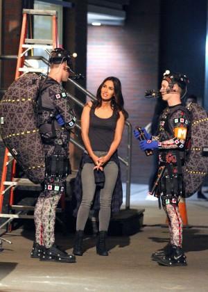 Megan Fox on Teenage Mutant Ninja Turtles 2 set -21