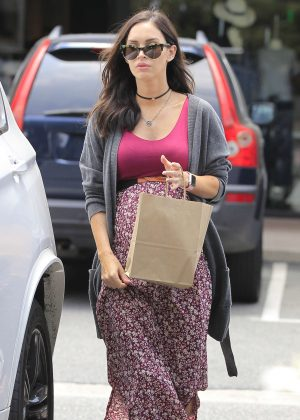 Megan Fox Shopping in Brentwood