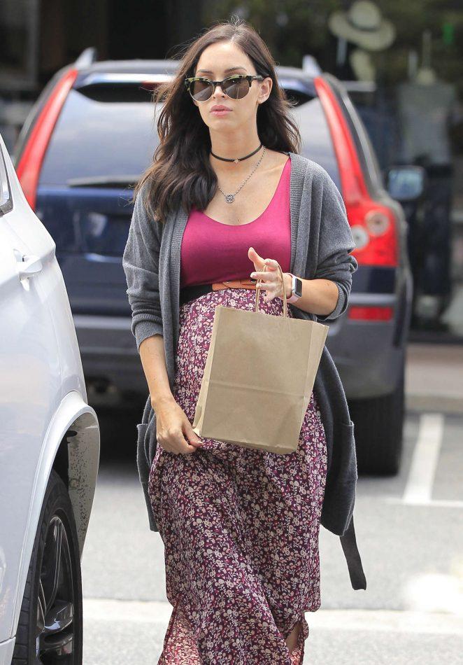 Megan Fox Shopping in Brentwood