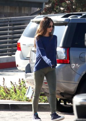 Megan Fox with Brian Austin Green at Kristys restaurant in Malibu