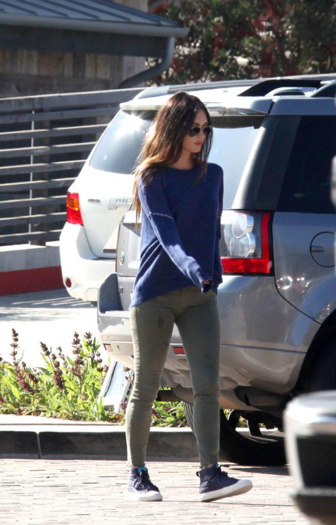 Megan Fox with Brian Austin Green at Kristys restaurant in Malibu