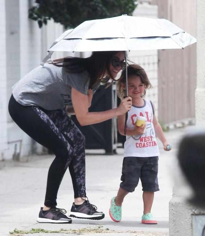 Megan Fox in Leggings ... Megan Fox Kids