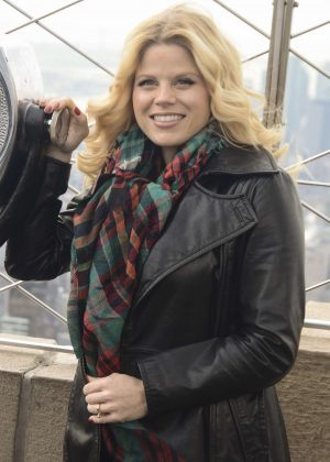 Megan Hilty at Empire State Building in New York