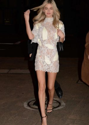 Megan Irwin in Mini Dress - Night out in Sydney