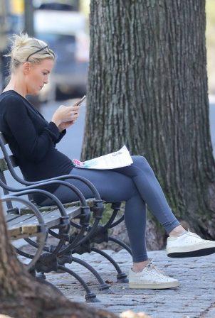 Megan Kelly - Seen on a park bench in Manhattan