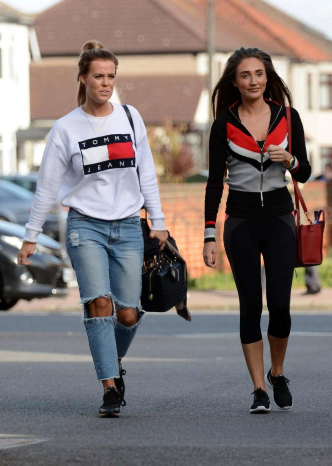 Megan McKenna and Chloe Meadows - Heading to Yoga Class in Essex