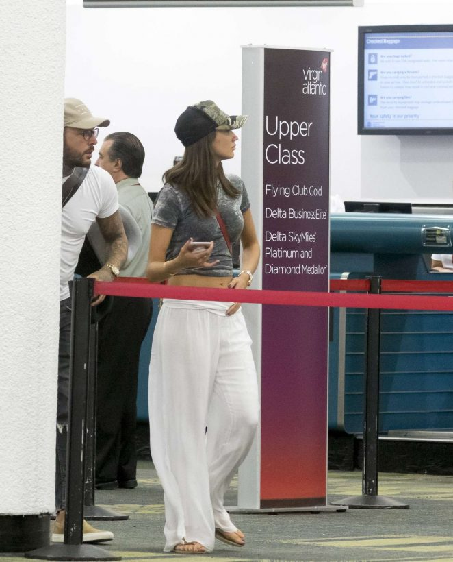 Megan McKenna at Airport in Miami
