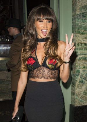 Megan McKenna at Sexy Fish Restaurant in London