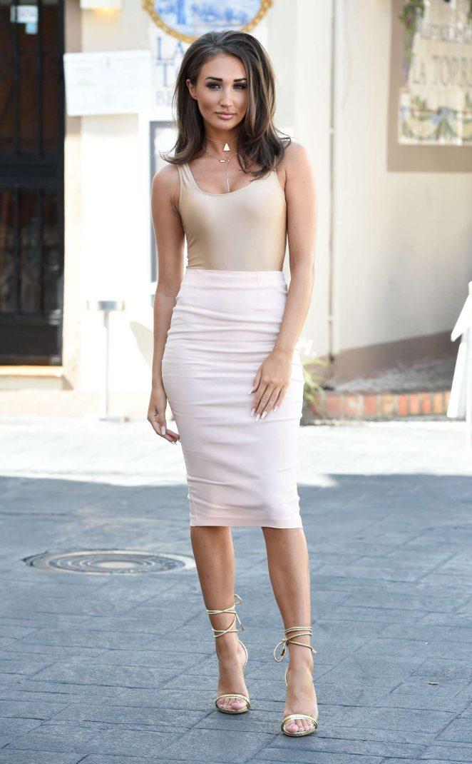 Megan Mckenna - Filming at Centuryon in Marbella