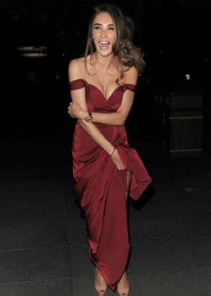 Megan McKenna - Leaving 2017 Beauty Awards in London