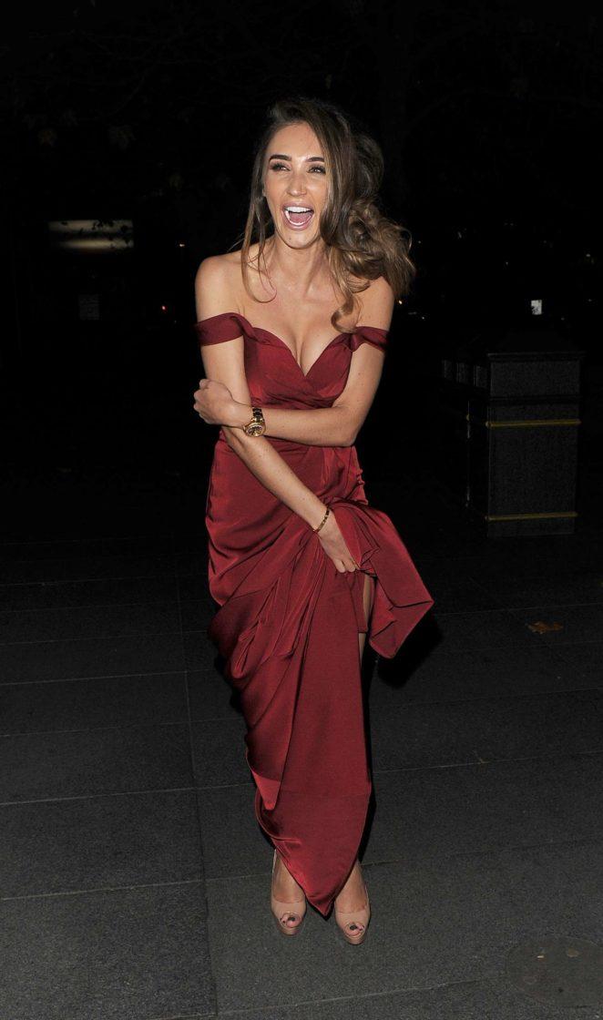 Megan McKenna - Leaving 2017 Beauty Awards in London