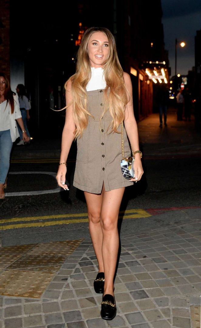 Megan McKenna - Leaving the Lottie Tomlinson's Tanologist Launching Event in London