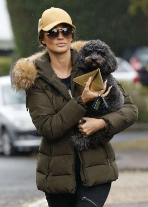Megan Mckenna with her dog in Essex