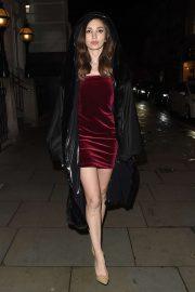 Megan Pormer - Arrives at Tramp Private Members Club Xmas Party in London