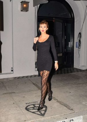 Megan Pormer - Leaves Craig's Restaurant in Los Angeles