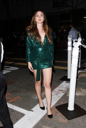 Megan Pormer - Out in a green dress at Salt Bae's new restaurant 'Nusr-Et' in Beverly Hills