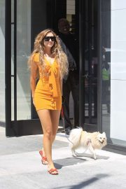 Megan Pormer With her dog - Shopping at Chanel in Beverly Hills