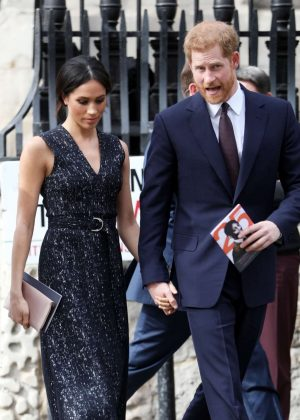 Meghan Markle and Prince Harry - Arrives at the Stephen Lawrence Memorial Service in London