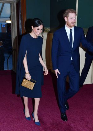 Meghan Markle and Prince Harry - Celebrating the Queen Elizabeth's 92nd Birthday in London