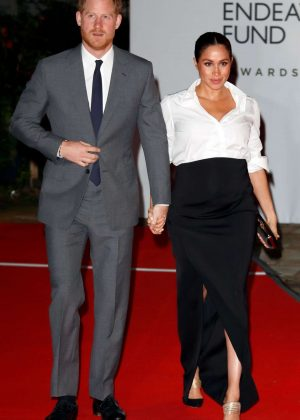 Meghan Markle and Prince Harry - Endeavour Fund awards at Drapers Hall in London