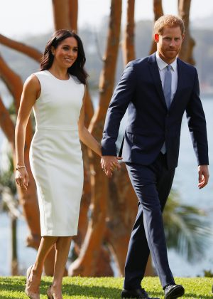 Meghan Markle and Prince Harry - Visiting the Admiralty House in Sydney