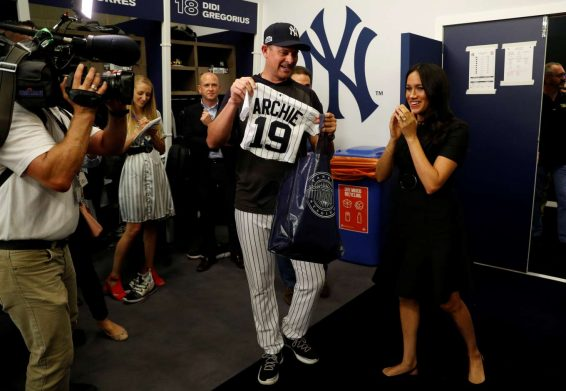 Meghan Markle- Attending the Boston Red Sox v New York Yankees Match-17
