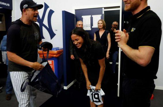 Meghan Markle- Attending the Boston Red Sox v New York Yankees Match-19