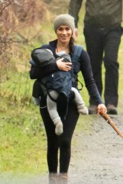 Meghan Markle - Goes for a hike a neighborhood park in Canada