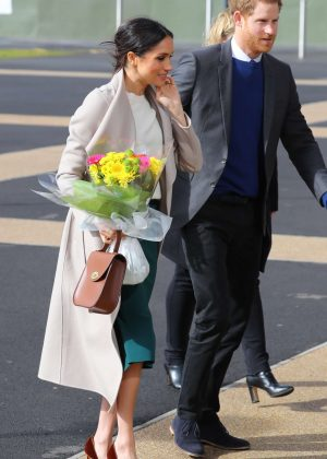 Meghan Markle - Visit the Eikon Centre in Lisburn