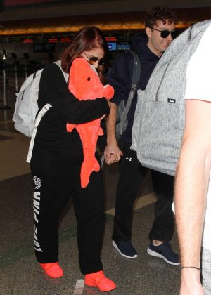 Meghan Trainor at LAX airport in Los Angeles