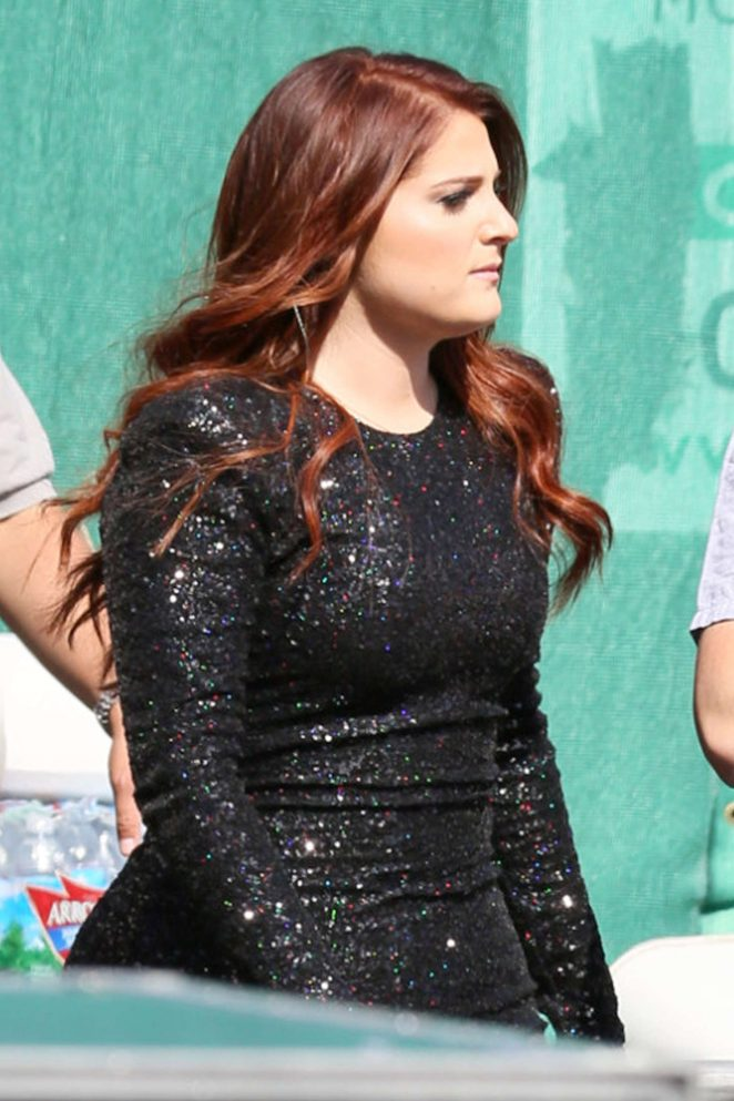 Meghan Trainor on 'Jimmy Kimmel Live' in Hollywood