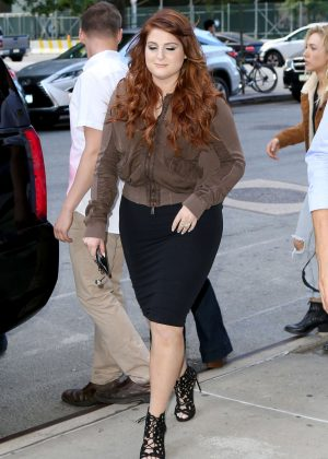 Meghan Trainor out in NY