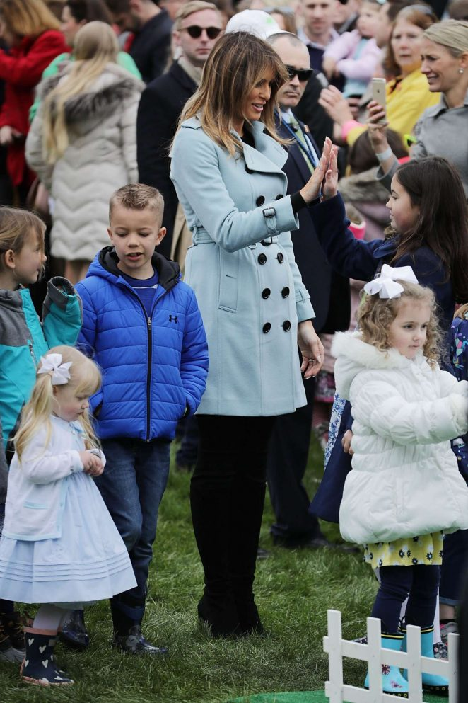 Melania Trump - 140th White House Easter Egg Roll in Washington
