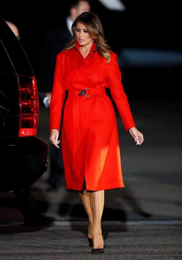 Melania Trump - Arriving at London Stansted Airport