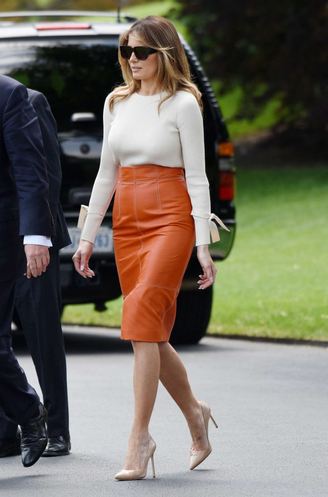 Melania Trump - Departing the White House in Washington