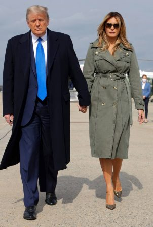Melania Trump - Pictured at Andrews Air Force Base Maryland