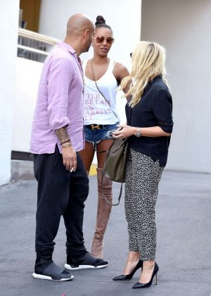 Melanie Brown and Emma Bunton at the Mondrian Hotel in West Hollywood