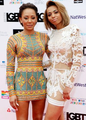Melanie Brown and Phoenix Chi Gulzar - 2018 LGBT Awards in London