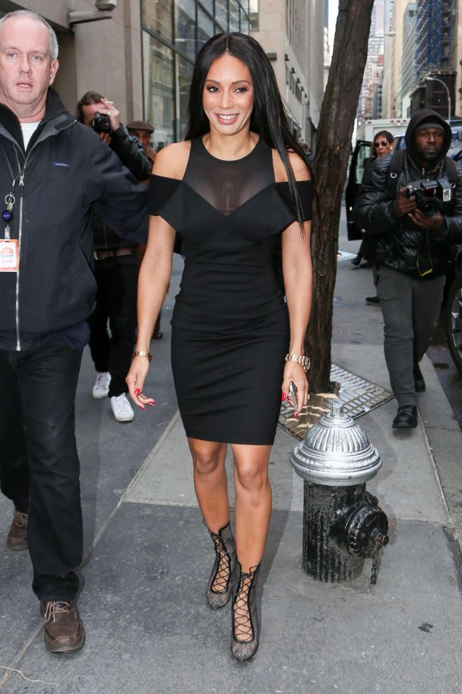 Melanie Brown - Arriving at 'Access Hollywood Live' in New York