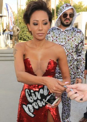 Melanie Brown at America's Got Talent event in North Hollywood