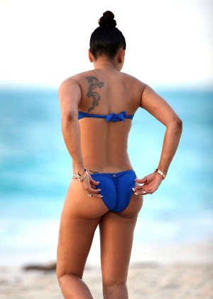 Melanie Brown in Blue Bikini -20