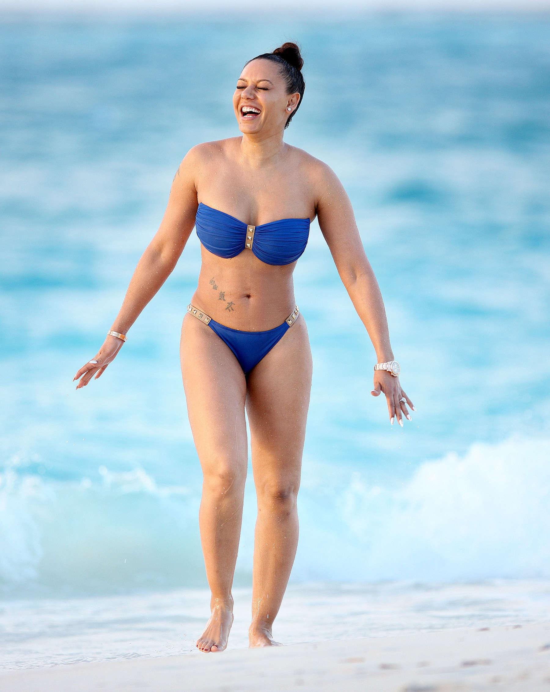 Blue And Brown Bikini 76