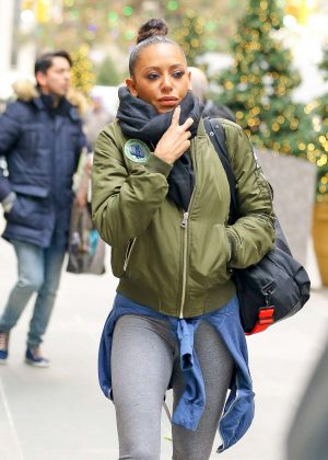 Melanie Brown heading to the gym in New York City