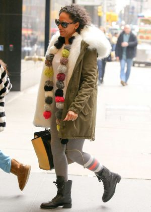 Melanie Brown out in New York City