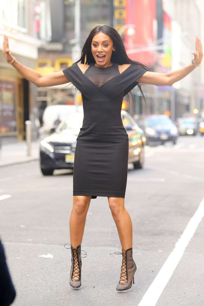 Melanie Brown out in Times Square