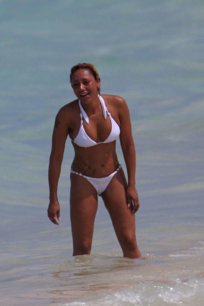 Melanie Brown: White Bikini Candids in Hawaii-02